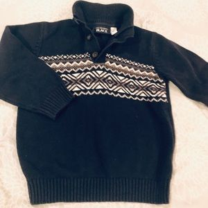 Children's place fair isle blue/ grey sweater